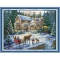 57*44cm-DIY-Handmade-Counted-Cross-Stitch-Needlework-Set-Embroidery-Kit-Christmas-Scenery-Home-Decoration-14CT