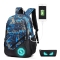 Fashion-Teenagers-Men-Womens-Pen-Bag-Backpack-Luminous-Student-Cartoon-School-Bags